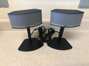 Bose Companion 5 Speaker Set  w/ Stands for Companion 5 System, Tested & Working