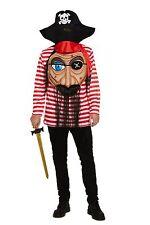 Adults Fancy Dress Pirate with Jumbo Face Fun Costume Halloween