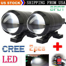 2pcs CREE U1 LED Motorcycle Light Headlight Driving Fog Spot Work Lamp + Switch