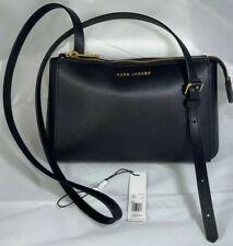 MARC JACOBS Commuter Crossbody Handbag Purse Black Gold Leather M0013941 $225.00