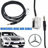 3.5mm Aux Input Adapter Audio Cable for Mercedes-Benz W169 W203 W209 W251 W221
