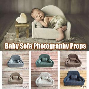 Newborn Baby Photo Props Sofa Seat 3 Cushions Christmas Photography Pos