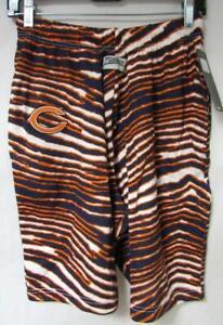 Zubaz Chicago Bears Mens Size S M or XL Zebra Print Shorts C1 1381