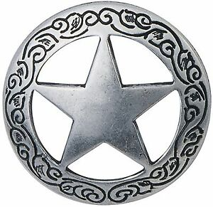 """ON SALE! Large 11/2"""" Silver Plated Texas Star Concho- Leathercraft FREE SHIPPING"""