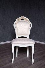 Chaise baroque antique MASSIF crème blanc or rembourrage style italien Vintage