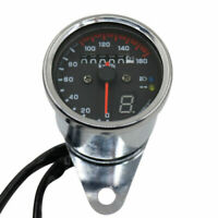 Compteur LED Dual Km / h Compteur de vitesse Odomètre Jauge Moto Cafe Racer ATV