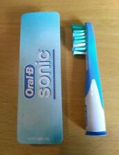 Oral-B Sonic Toothbrush Heads. 2 New heads 1 sealed, 1 opened Genuine Oral-B NEW