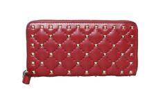 NEW! Auth Valentino Rockstud Zip-Around Wallet NWT