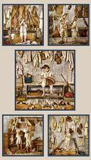 "23"" Fabric Panel - Elizabeth's Studio Play Ball Vintage Baseball Scenes Sepia"