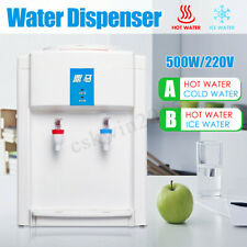 220V Water Filter Machine Ice/Cold & Hot Water Cooler Warm Dispenser Table Top