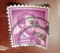 1954 ABRAHAM LINCOLN USA 4 CENT STAMPS USED (LOT OF APPROX 200)