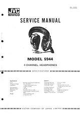 JVC Service Manual for Headphone 5944