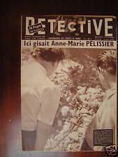 Détective 1956 SAULT MARCILLAC LA CROISILLE BELFORT
