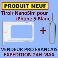 ✖ TIROIR METAL SUPPORT CARTE NANO SIM IPHONE 5 BLANC NEUF ✖ EXPEDITION 24H MAX ✖