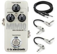 New TC Electronic Mimiq Mini Doubler Guitar Pedal w/ Cables!