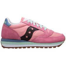 Saucony sneakers donna jazz triple 705308 rosa Rose/Blue logo pelle scamosciata