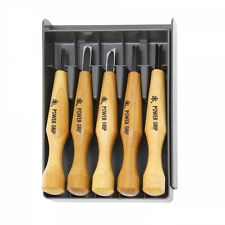 Japonés Power Grip Talla herramientas 5pc Set Japonesa Tallada En Madera Set