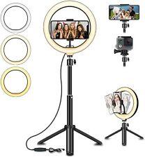 "Ringlicht 8"" LED Selfie Ringleuchte mit Extendable Stativ"