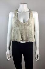 EILEEN FISHER THE FISHER PROJECT Beige Open Knit Sweater Tank Blouse Size Medium