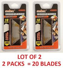 LOT OF 2 UTILITY KNIFE REPLACEMENT BLADES 20 RAZOR SHARP STEEL REFILL SK5 TOOLS
