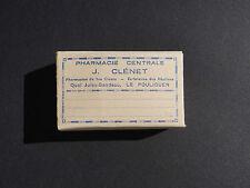 LE POULIGUEN - Boite carton PHARMACIE J. CLENET - pharmacy Apotheke - bleu
