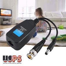 uxcell/® CCTV Camera BNC Video Balun RJ45 UTP Power Coax Transceiver Cable Adapter 2pcs