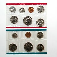 1980 US Mint Uncirculated Coin Set - 13 Brilliant Uncirculated US Coins