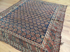 "Antique  Persian Meir ""Ralph Lauren-Style""4x5, 4x6 Oriental Area Rug orange navy"