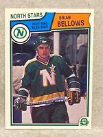 1983-84 Brian Bellows OPC O-Pee-Chee rookie card #167 Minnesota North Stars RC