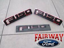 15 thru 17 F-150 OEM Ford Special Edition RED Fender & Tail Gate Emblem Set XLT
