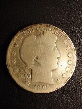 1892 s barber or liberty head half dollar