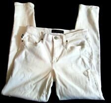 Rock & Republic Womens White Berlin Size 8  Distressed Jeans 30x29 Stretchy