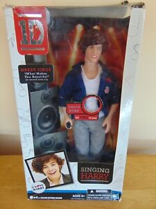 """Vintage 1D Harry Styles One Direction Singing Doll 12"""" ~ New In Box"""