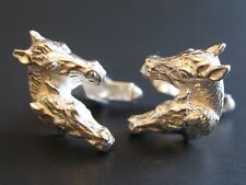 Pferde Reitsport Sehr schöne Manschettenknöpfe 835 Silber