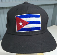 FINL365 Finish Line Cuba Flag Size 7 Fitted Black Baseball Cap Hat
