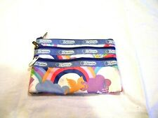 Le SportSac rainbow and unicorn cosmetic bag, 3 pockets