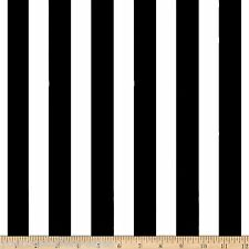 Black And White Striped Fabric Poly Cotton Fabric Brand New Fabric By The Yard