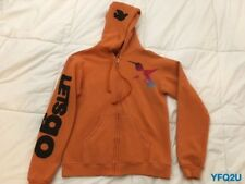 FREE CITY Orange LIFE NATURE LOVE HUMMINGBIRD PRINT Hoodie SIZE 1/Small LETSGO