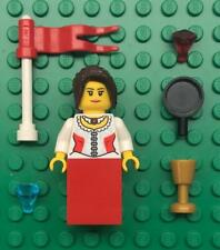 Lego White Red Queen Princess Minifig Lot: castle figure: woman girl lady maiden