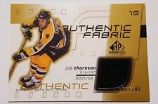 2001-02 Joe Thornton SP Game Used Jersey Card 298/300 Boston Bruins #AF-JT