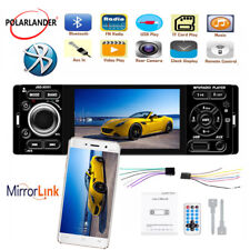 "4"" 1 Din Car Radio Bluetooth MP5 Player Audio Mirror Link FM Touch Screen Stereo"
