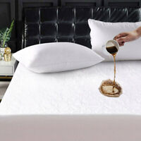 Waterproof Full Mattress Cover Pad Bed Bug Dust Mite Hypoallergenic Protector