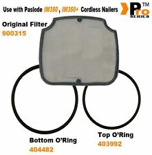 Paslode Original Filter + Replacement IM350 o'ring top fan 403992 /bottom 404482