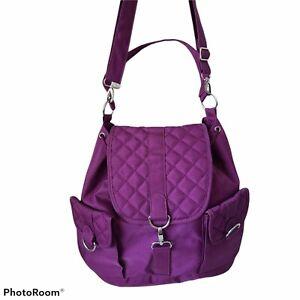 Travelon Travel Bag Large Adjustable Shoulder Straps Purple Pockets