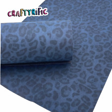 Navy Blue Leopard Velvet Sheet, Velvet Fabric Felts, Fabric Sheet, Vibrant