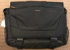 """NEW Laptop Notebook Bag Black Messenger Style - up to 16"""" - FREEPOST"""