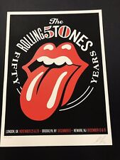 Rolling Stones 50th Anniversary Poster Shepard Fairey LE 632 Original NY UK Hope