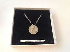 Corinthian Didrachm GCP2 Emblem on Silver Platinum Plated Necklace 18""