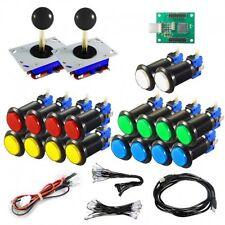 Kit Joystick Arcade Zippyy - 18 black illuminated buttons - Xin-Mo USB encoder