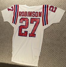 JUNIOR ROBINSON 1990 NEW ENGLAND PATRIOTS GAME WORN SAND-KNIT SIZE 36 JERSEY LOA